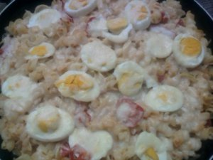 Лапшевник с яйцом