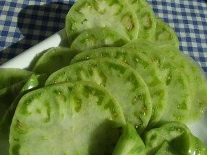 Запеканка из бекона и зеленых помидоров