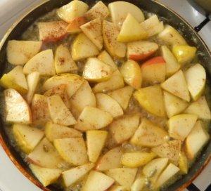 Поповер с яблоками