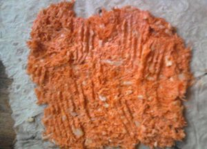 Морковный рулет