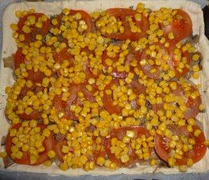 Пирог из слоеного теста с овощами