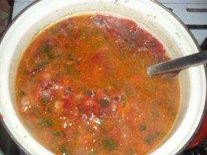Свекольный суп со звездочками