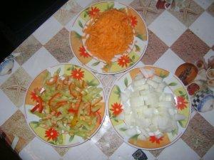 Гречка с фаршем и овощами