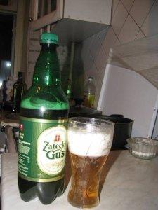 Стейк толстолобика в пиве