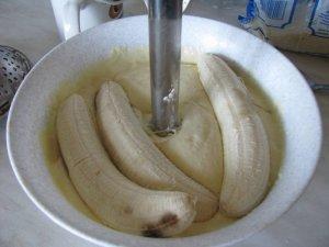 Банановая запеканка с кокосом