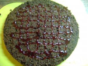 Бисквитно - желейный торт
