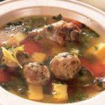 Суп с кольраби и фрикадельками