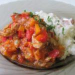 Рагу из моркови и красной рыбы