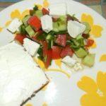 Овощной салат с рукколой и фетой