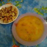 Суп гороховый с копченой курочкой