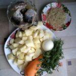 Суп макаронный с сардиной