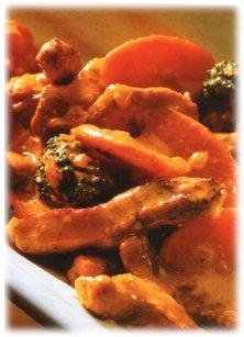 Мясо в овощном соусе