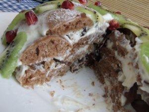 """Торт """"Черепаха"""" с киви"""