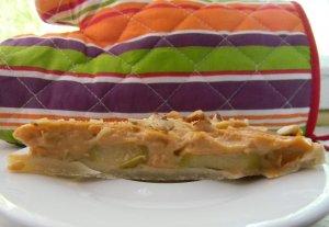 Яблочный торт с карамельным пудингом