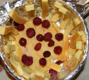 Сметанный торт с вишнями