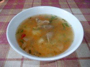 Суп из субпродуктов с пшеном