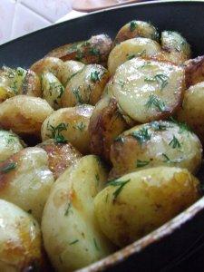 Молодой жаренный картофель