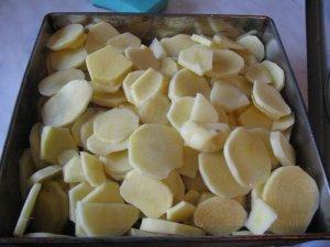 Картофель с семгой