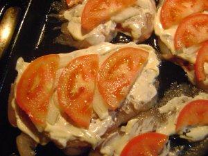 Нарядное куриное филе из духовки