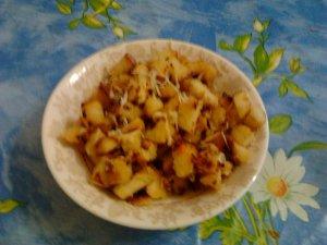 Сухарики-вкусняшки с сыром